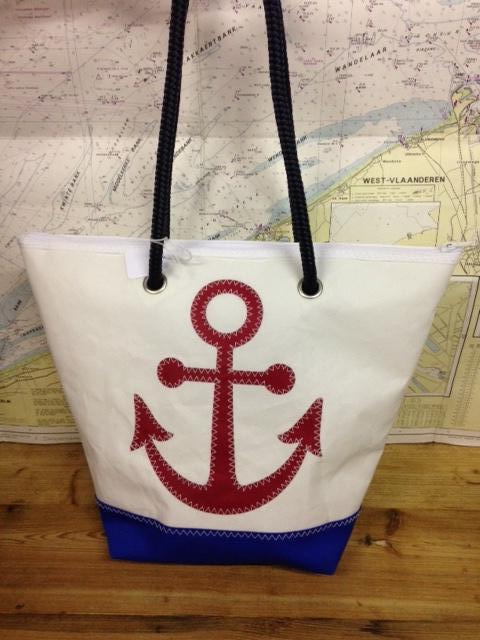 Shopping bag ancre rouge