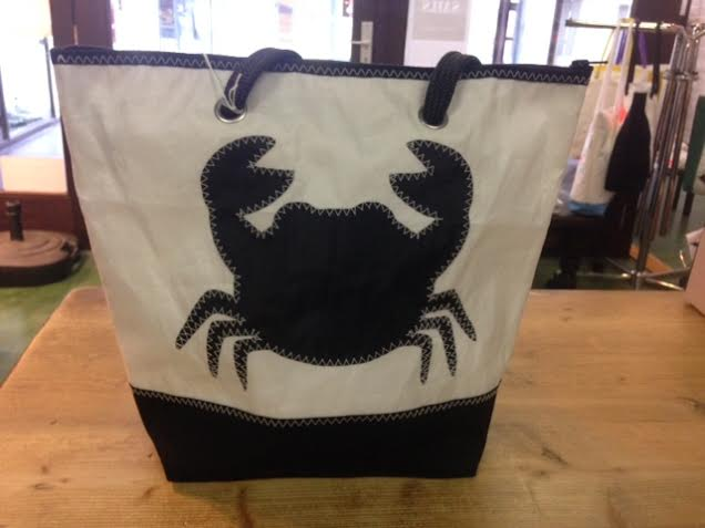 Shopping bag zwarte krab