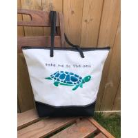 Shopping bag tortue brodé