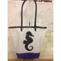 SHopping bag hippocampe noir