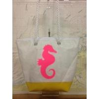 Shopping bag hippocampe rose